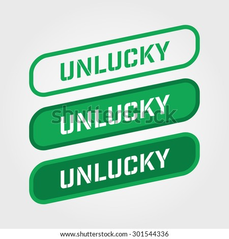 unlucky green stamp text vector over a white background stock