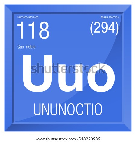 Ununoctio symbol ununoctium spanish language element stock vector ununoctio symbol ununoctium in spanish language element number 118 of the periodic table of urtaz Images