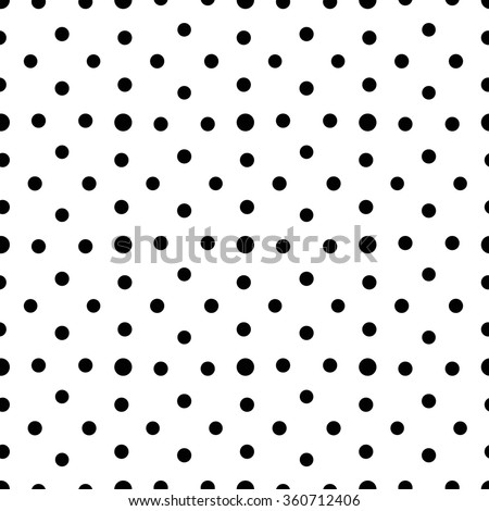 Unusual black and white small polka dot seamless pattern. Rhombus arrangement of rounds. Geometric background, minimalist ornament. Classical design. Graphic vector for fabric print. - stock vector