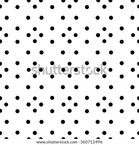 Unusual black white small polka dot seamless pattern. Rhombus arrangement of rounds. Geometric background, minimalist ornament. Monochrome design. Graphic vector for fabric print, furniture, wallpaper - stock vector