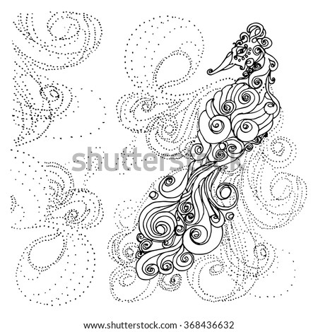 unusual design abstract duck peacock bird coloring page for adults duck beak bird with curly