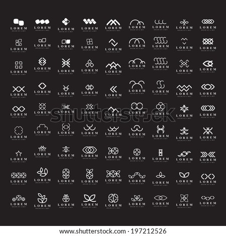 Unusual Icons Set - Isolated On Black Background - Vector Illustration, Graphic Design Editable For Your Design