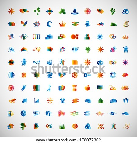 Unusual Icons Set - Isolated On Gray Background - Vector Illustration, Graphic Design Editable For Your Design. Colorful New icons - stock vector