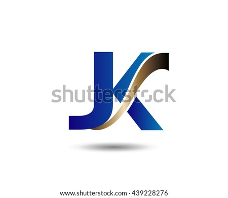 Unusual J and K. Business logo template