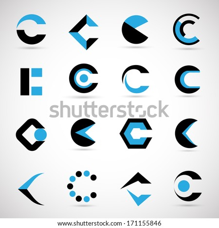 Unusual Letters Set - Isolated On Gray Background - Vector Illustration, Graphic Design Editable For Your Design.  - stock vector
