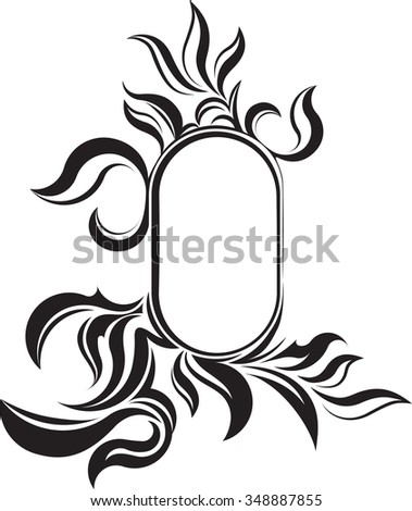 vintage frame tattoo design. Delighful Frame Unusual Oval Vintage Frame For Your Design Or Tattoo Vector Illustration With Vintage Frame Tattoo Design C