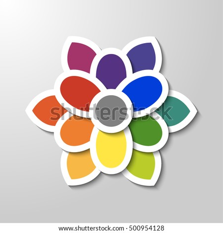 Unusual Vector Color Flower Wheel Great For Theory Lessons And Tutorials Artist