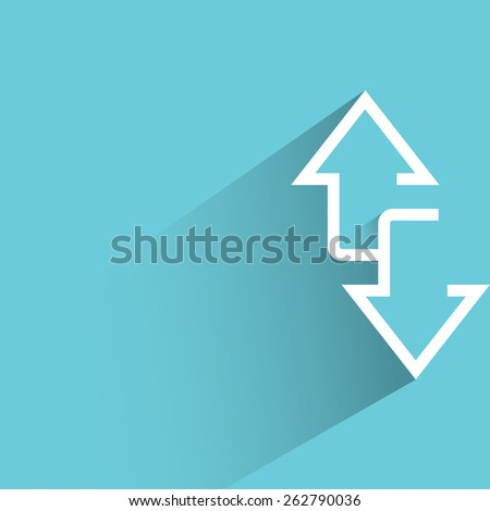 up and down directions, arrows - stock vector