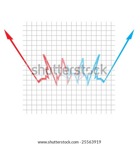 Up and Down Graph of Success or Failure With White Background
