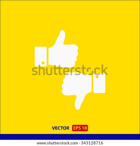 up and down,  like icon. One of set web icons - stock vector