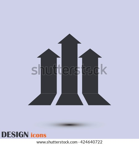 up arrow icon. - stock vector