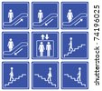 up/down => pictogram - icon - symbol - stock photo