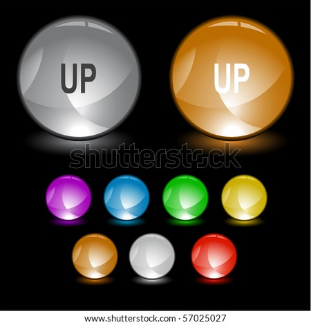 Up. Vector interface element. - stock vector