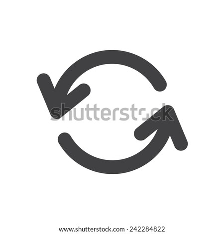 Update, modern flat icon - stock vector