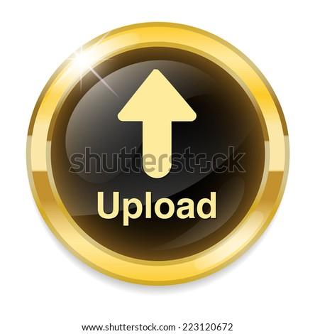 Upload Button, Upload icon and button - stock vector