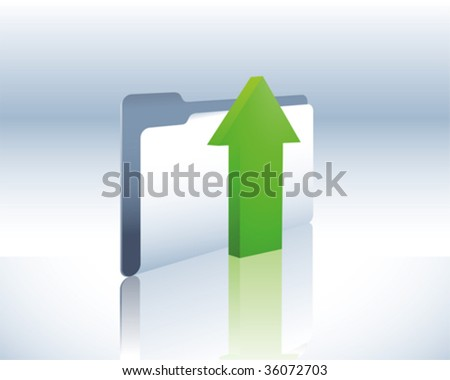 upload folder - stock vector