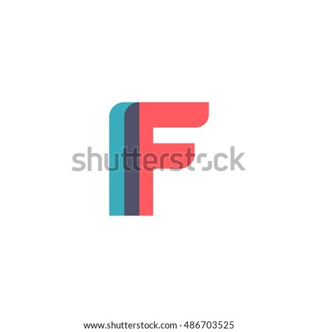 Uppercase logo modern classic pale blue stock vector 486703525 uppercase if logo modern classic pale blue red overlap transparent logo sciox Image collections