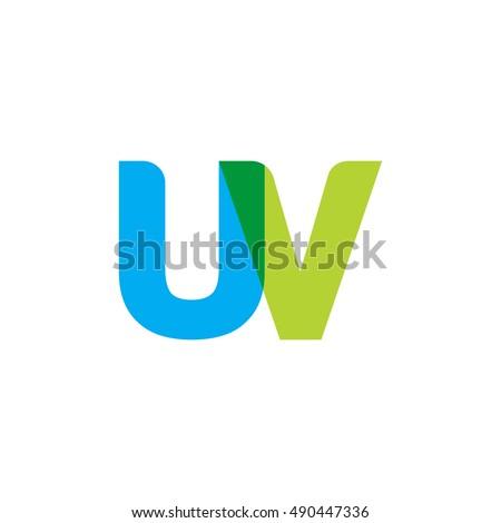 uppercase uv logo modern classic pale stock vector