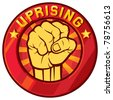 uprising symbol (badge, sign) - stock vector
