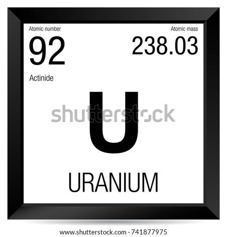 uranium symbol element number 92 of the periodic table of the elements chemistry - Periodic Table Of Elements Uranium