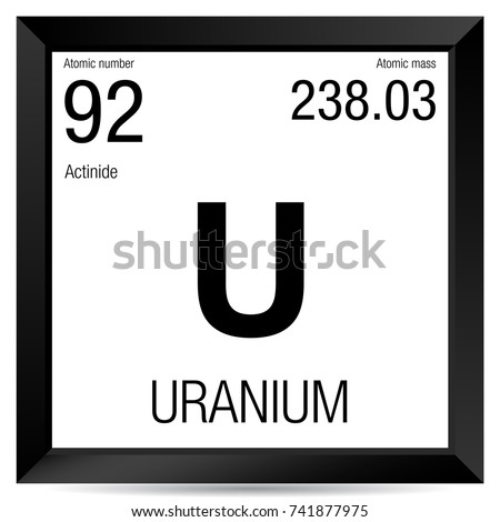 Uranium symbol element number 92 periodic stock vector 741877975 uranium symbol element number 92 of the periodic table of the elements chemistry urtaz Choice Image