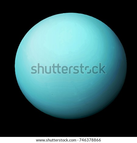 Uranus. Vector illustration.