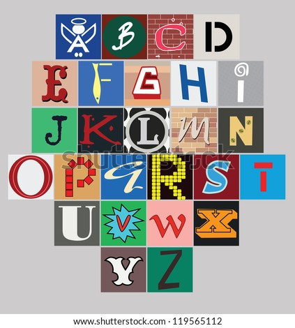 urban alphabet design. vector illustration - stock vector