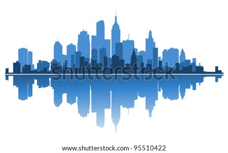 Urban architecture for business concept design. Vector illustration - stock vector