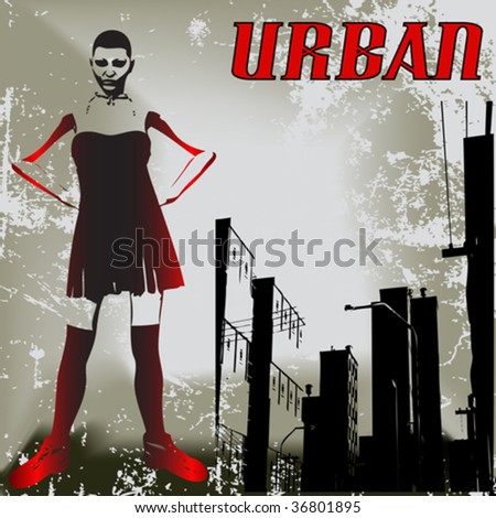 Urban Attitude - stock vector