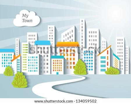 Urban background. - stock vector