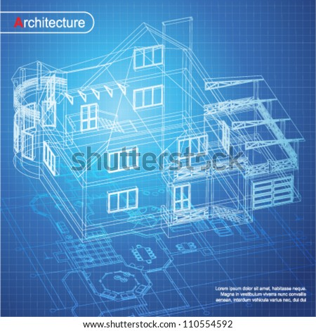 Architecture house blueprint vectores en stock 247985518 shutterstock urban blueprint vector architectural background part of architectural project architectural plan malvernweather Choice Image