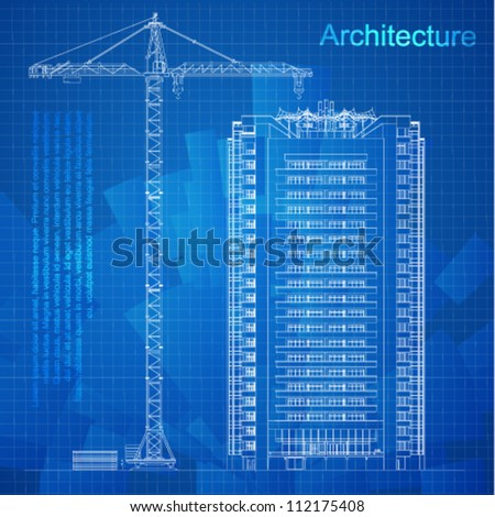 Urban blueprint vector architectural background part stock vector urban blueprint vector architectural background part of architectural project architectural plan malvernweather Images