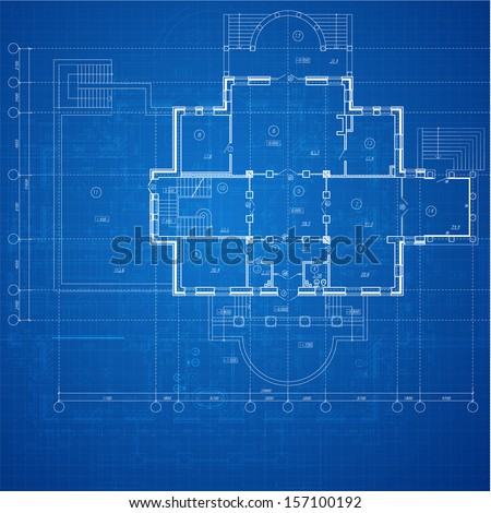 Urban blueprint vector architectural background part stock photo urban blueprint vector architectural background part of architectural project architectural plan malvernweather Images