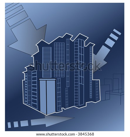 urban building concept vector - stock vector