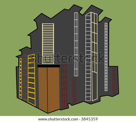 urban building concept vector see series - stock vector