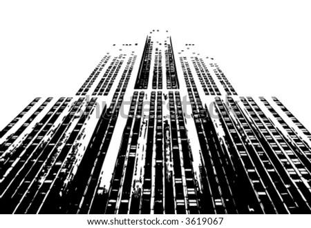 urban building vector - stock vector