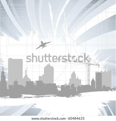 urban city - stock vector