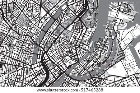 Urban City Map Copenhagen Stock Photo Photo Vector Illustration