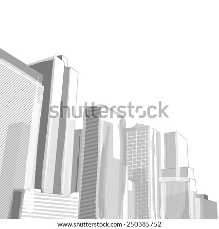 Urban cityscape, Vector Abstract illustration. Eps 10. - stock vector