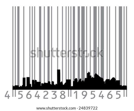 Urban concept with barcode - stock vector