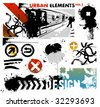 urban design elements / 2 - stock vector