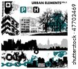 urban design elements / 3 - stock photo