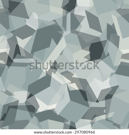 Urban geometric camouflage. Digital seamless pattern. Excellent masks contours of human and equipment in the city. Vector illustration. - stock vector