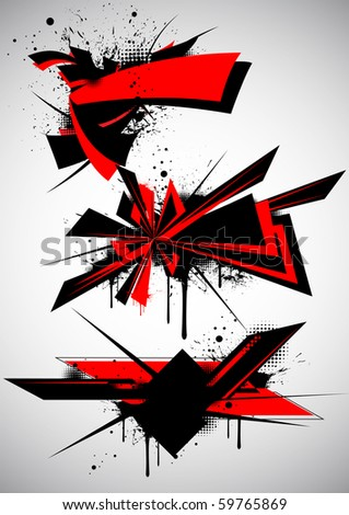 Urban graffiti - stock vector