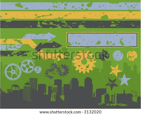 urban graffiti-style design elements - stock vector