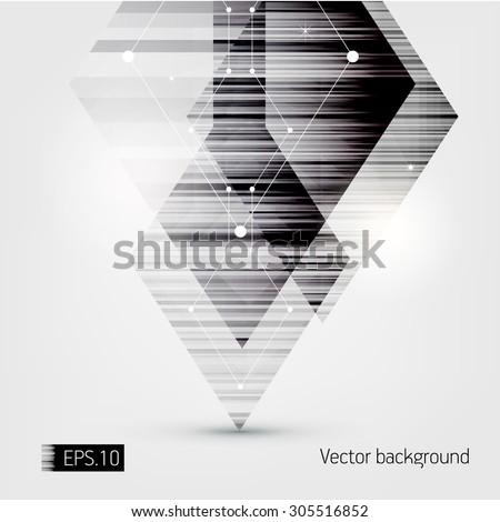 Urban Hi-tech background. eps10. - stock vector