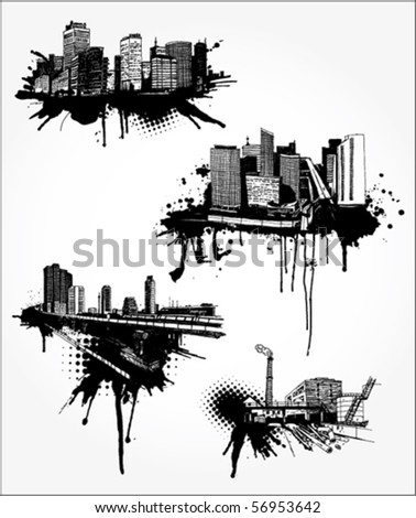 Urban Landscapes - stock vector