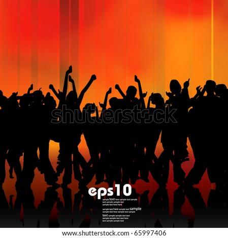 Urban music background - stock vector