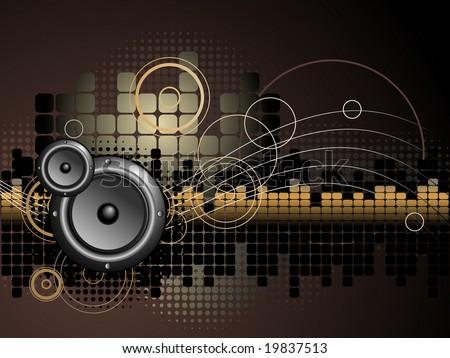 Urban Music Background - Vector - stock vector