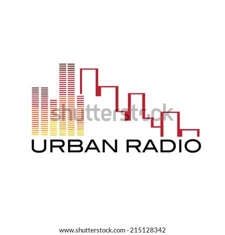 urban radio concept - stock vector